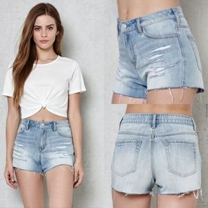 Pacsun Ripped HighRise  waisted Jean shorts